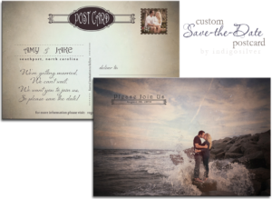 engagement pictures custom save the date postcard by indigosilver