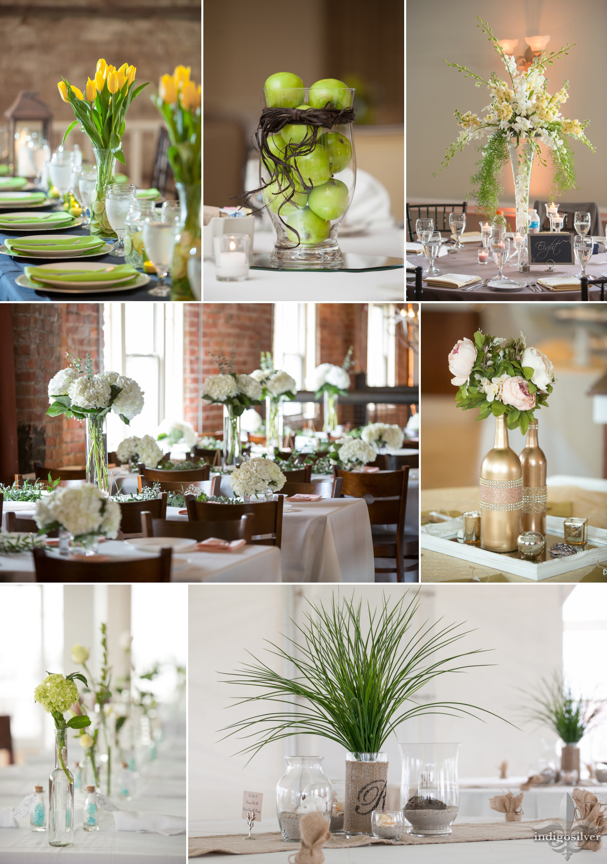 pantone greenery wedding bouquets