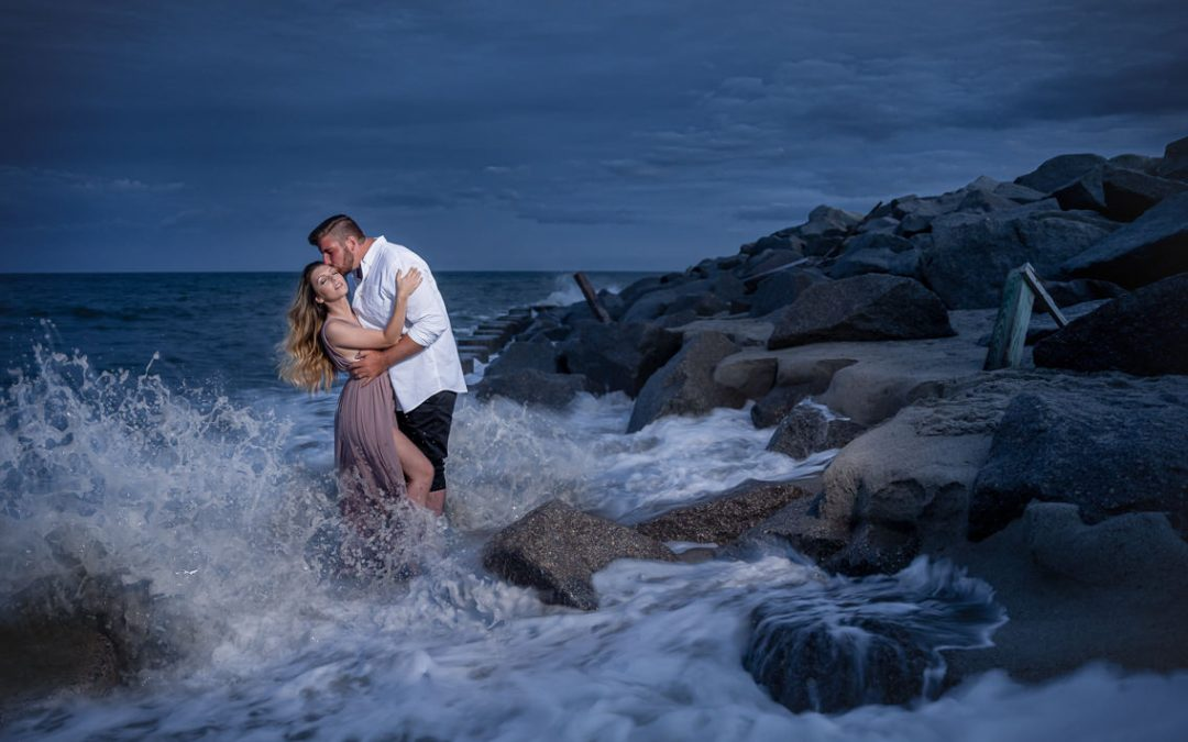 Rachel and Brandon Engagement Session | Fort Fisher, NC