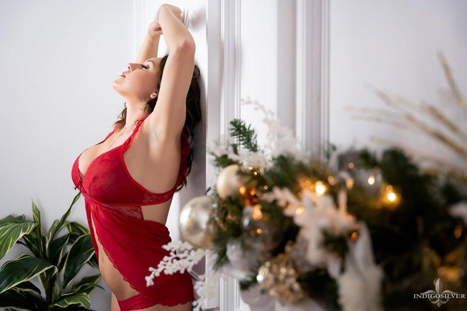 christmas boudoir photo shoot ideas wilmington